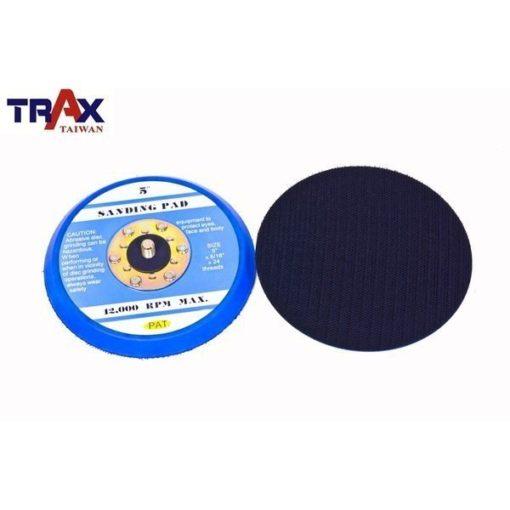 """6吋魔鬼氈黏扣盤(5/16"""" ×24牙)(藍色)底盤轉盤] 氣動打蠟機專用、研磨、拋光 4 - 氣動打蠟、研磨、拋光專用"""