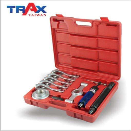 """ARX-YC911 [專業級/油壓式/通用型五爪式可鎚打可手轉軸承拆卸工具組(輪轂/哈姆/培林/軸承卸除)] 3 - <div>Hydraulic Ram (Ø37.7mm SCM420)</div> <div>Sent POP (Ø1""""x L30mm 50BV30 HRC40°±2)</div> <div>Ram Extension Rod (Ø1""""x L2"""" S45C)</div> <div>Forcing Screw (S45C)</div> <div>Striking Handle (SCM415 HRC42°±3)</div> <div>Hub Puller Socket (SCM415 HRC42°±3)</div> <div>Hub Puller Legs (SCM415 HRC42°±3) x 5pcs</div>"""