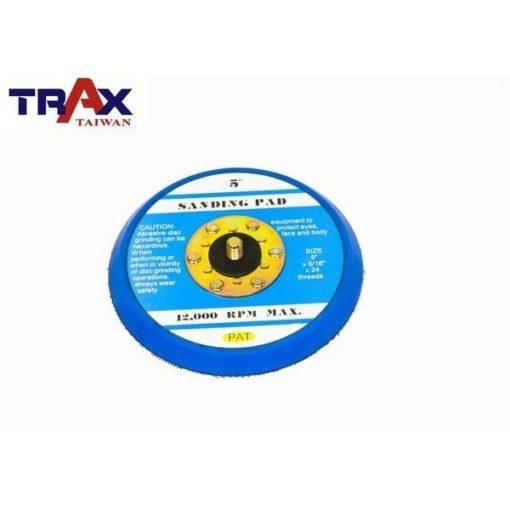 """5吋魔鬼氈黏扣盤(5/16"""" ×24牙)(藍色)底盤轉盤] 氣動打蠟機專用、研磨、拋光 3 - 氣動打蠟、研磨、拋光專用"""