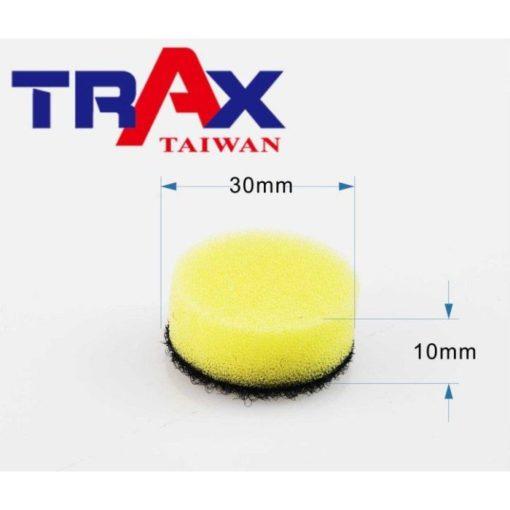 30mmx10mm 黃色拋光海綿 研磨除紋拋光打蠟海綿 (ARX-1105DS 點磨機) 3 - ARX-1105DS氣動點磨機專用拋光海綿
