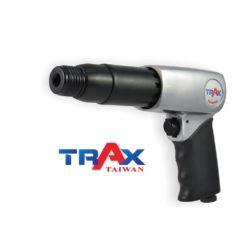 ARX-715RK 強力氣動鎚 8 - 長行程超強搥打力! 每分鐘強力打擊2100次! 2kg輕量化機身! 人體工學防滑手柄! 2種固定頭,方便使用! 可使用10.2mm圓柄各式鑿刀! 打石鑿水泥的最佳利器!