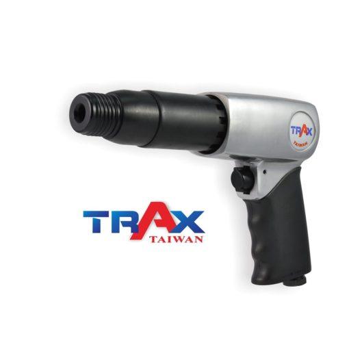 ARX-715RK 強力氣動鎚 4 - 長行程超強搥打力! 每分鐘強力打擊2100次! 2kg輕量化機身! 人體工學防滑手柄! 2種固定頭,方便使用! 可使用10.2mm圓柄各式鑿刀! 打石鑿水泥的最佳利器!