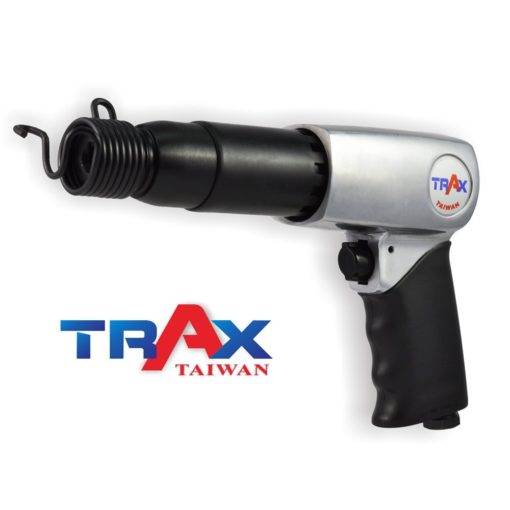 ARX-715RK 強力氣動鎚 2 - 長行程超強搥打力! 每分鐘強力打擊2100次! 2kg輕量化機身! 人體工學防滑手柄! 2種固定頭,方便使用! 可使用10.2mm圓柄各式鑿刀! 打石鑿水泥的最佳利器!