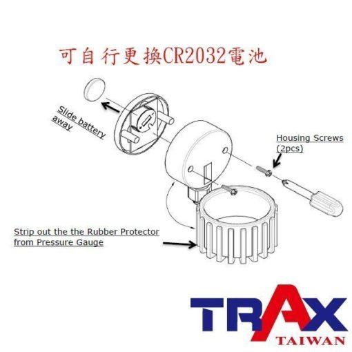 ARX-70CC[三用型雙頭電子式輪胎打氣胎壓計(160psi)] 5 - <div>1.電子顯示,打氣更精確!</div> <div>2.三用型,打氣、測壓、洩氣一次完成。</div> <div>3.雙進氣頭設計適合轎車及卡車使用。</div> <div>4.85秒自動斷電</div> <div>5.可自行更換CR2032電池</div>