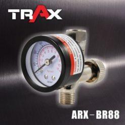 ARX-BR88 噴漆槍專用調壓閥附壓力表 9 - <div>149g調壓錶,結構耐用。</div> <div>雙刻度調壓閥,適用壓力區間值為: 0~160PSI、0~11kg/cm2</div> <div>錶面直徑42mm,輕鬆讀取氣壓值。</div> <div>高CP值調壓閥。</div> <div>360度轉向接頭,可將壓力錶調整至適合角度。</div> <div>精密針閥壓力閥,可快速及微調整壓力。</div> <div>玻璃錶面,可用溶劑擦拭,不霧化!</div> <div>氣動噴漆槍必備調壓閥,調壓時請按下板機後調整,以確認目前操作壓力。</div>