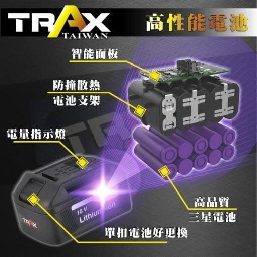"""ARX-874 [18V無刷馬達4分(1/2""""Dr.)大扭力充電式衝擊電動扳手] 6 - 轉軸:4分(1/2""""Dr.) 轉數 L:0~1,000 R.P.M. M:0~2,200 R.P.M. H:0~3,600 R.P.M. S:0~3,600 R.P.M. 最大扭力:H: 300 Nm 電壓:20V 重量:1.65kg (含電池)"""